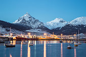 Amazing view of Ushuaia city at night