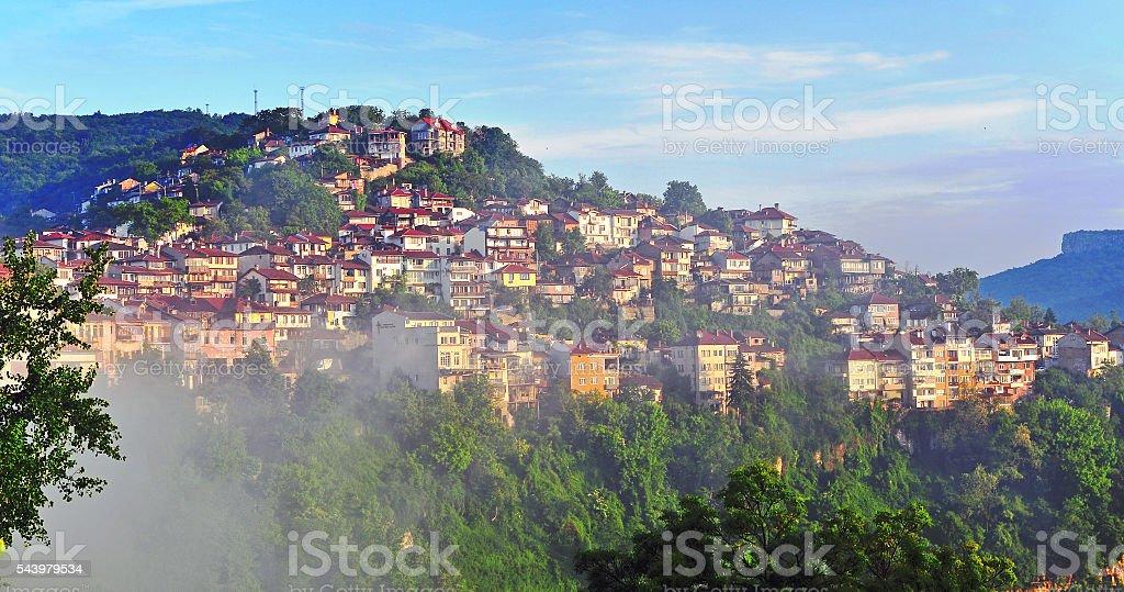 Amazing view of Veliko Tarnovo stock photo
