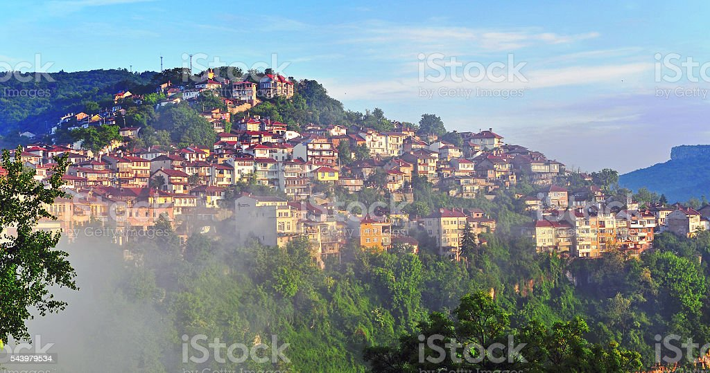 Amazing view of Veliko Tarnovo stock photo
