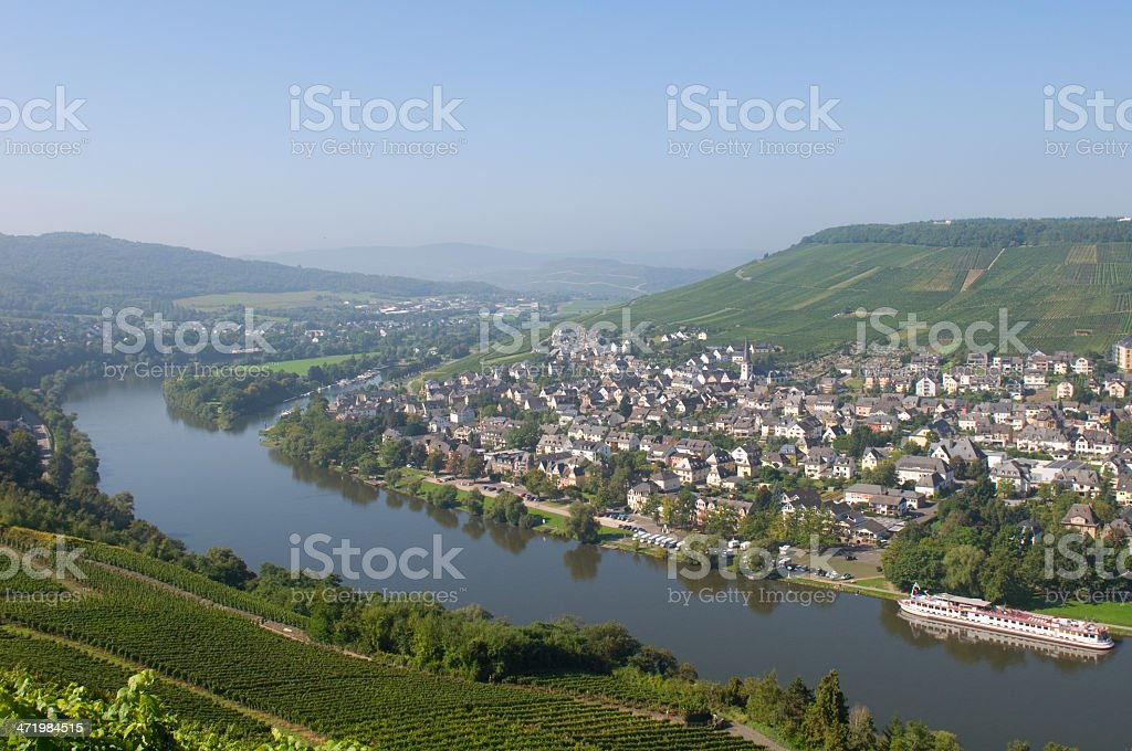 Amazing view to Rhine valley. Germany stock photo