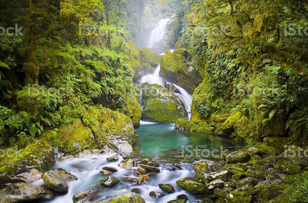 Amazing Waterfall stock photo