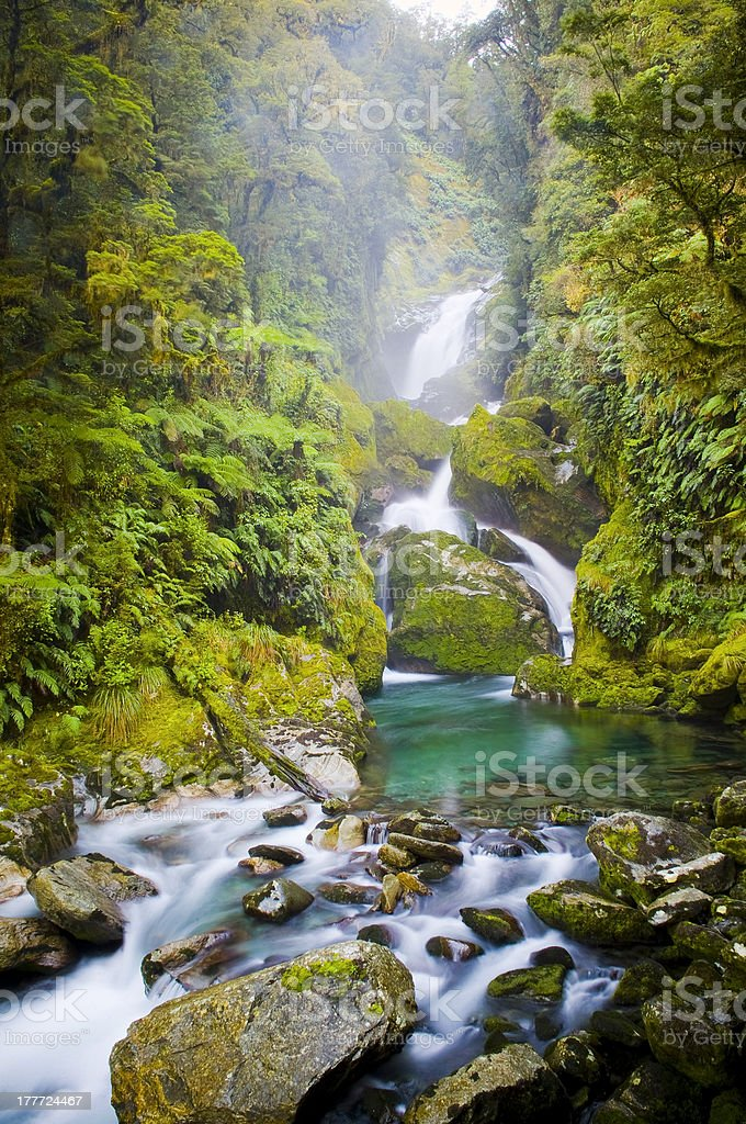 Amazing Waterfall royalty-free stock photo