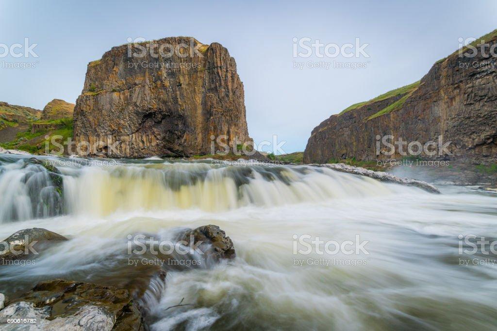 Amazing waterfall. stock photo
