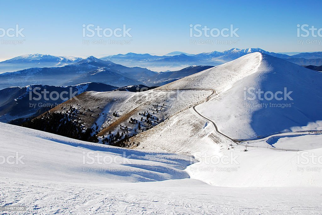 amazing winter scenery royalty-free stock photo