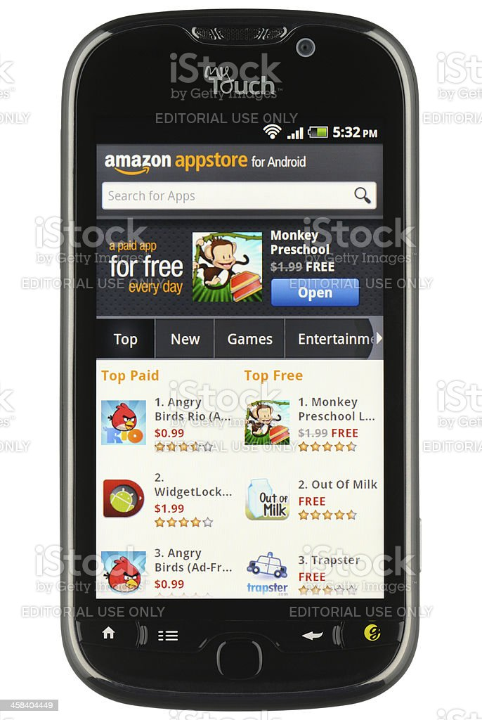 Amazon Appstore for Android royalty-free stock photo