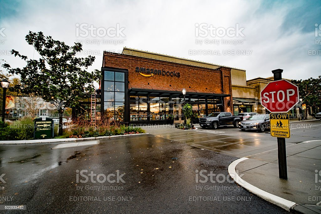 Amazon Books in Seattle's University Village The First Physical Store stock photo