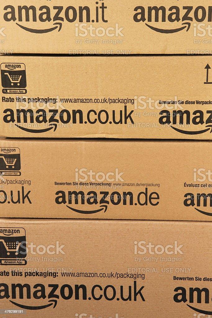 Amazon Boxes stock photo