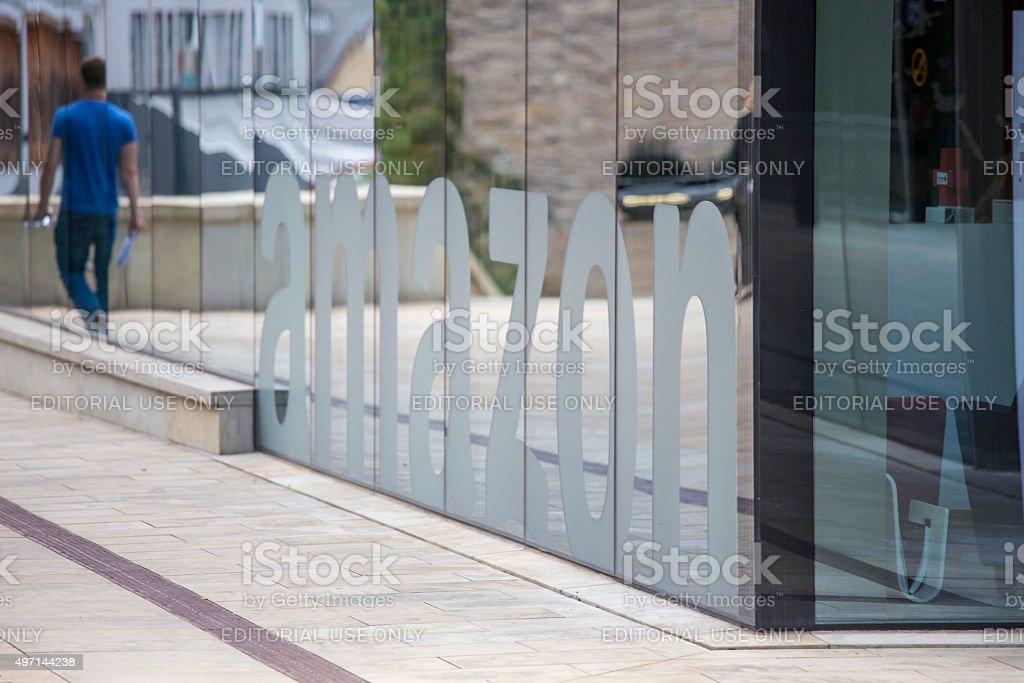 Amazon Corporation Headquarters in Luxembourg City, Europe stock photo