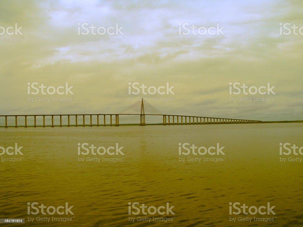 Amazon Estaiada Bridge. stock photo