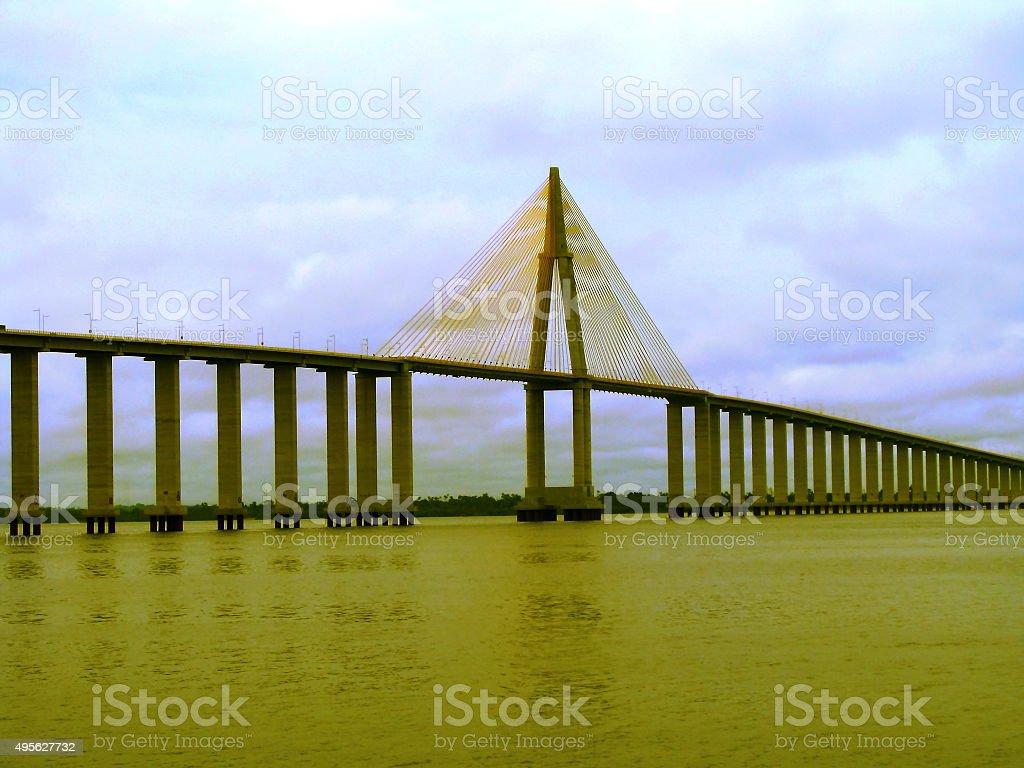 Amazon Estaiada Bridge stock photo