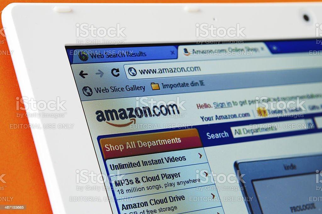 Amazon homepage stock photo