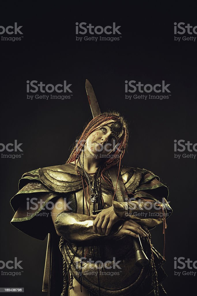 Amazon in contemplation stock photo