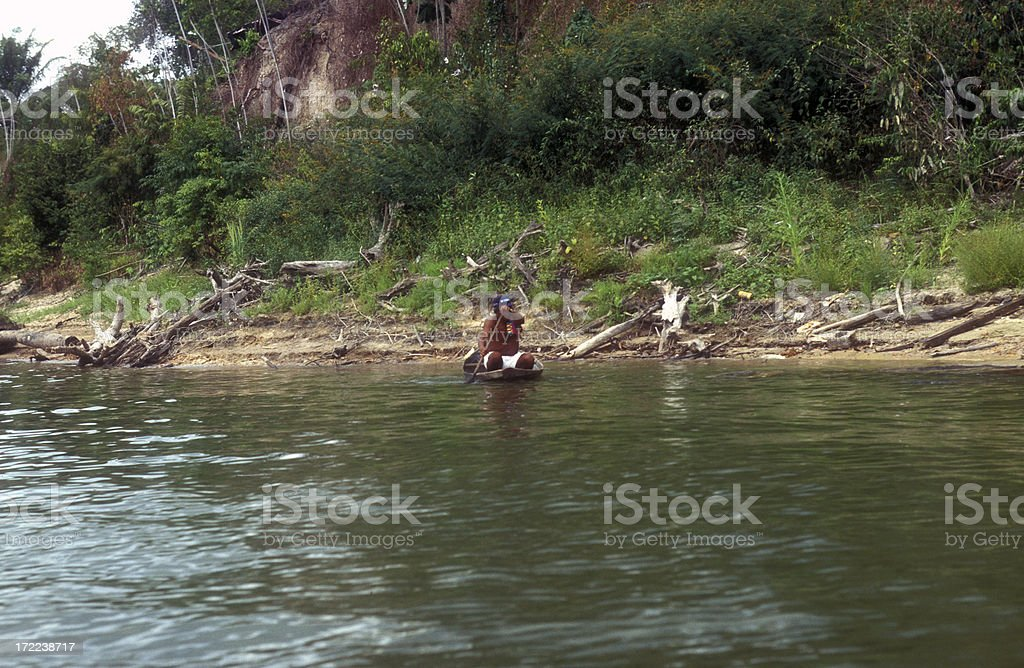 amazon indien boat royalty-free stock photo