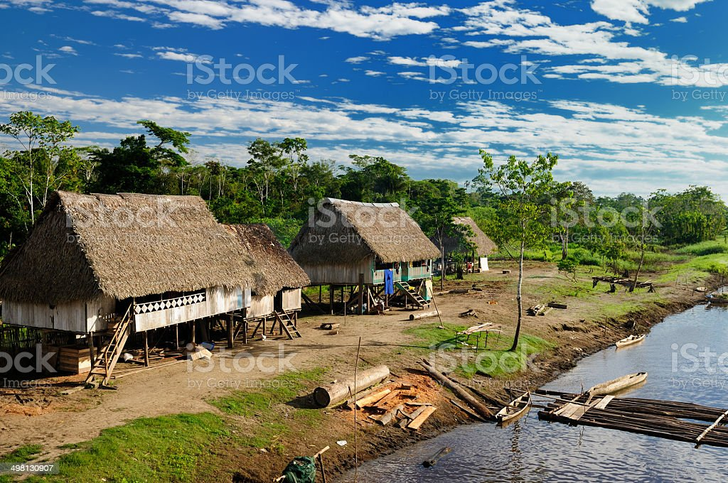 Amazon indian tribes in Brazil stock photo