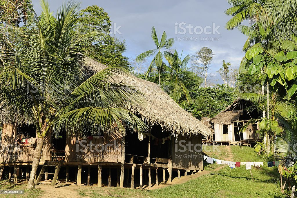 Amazon indian tribes in Colombia stock photo