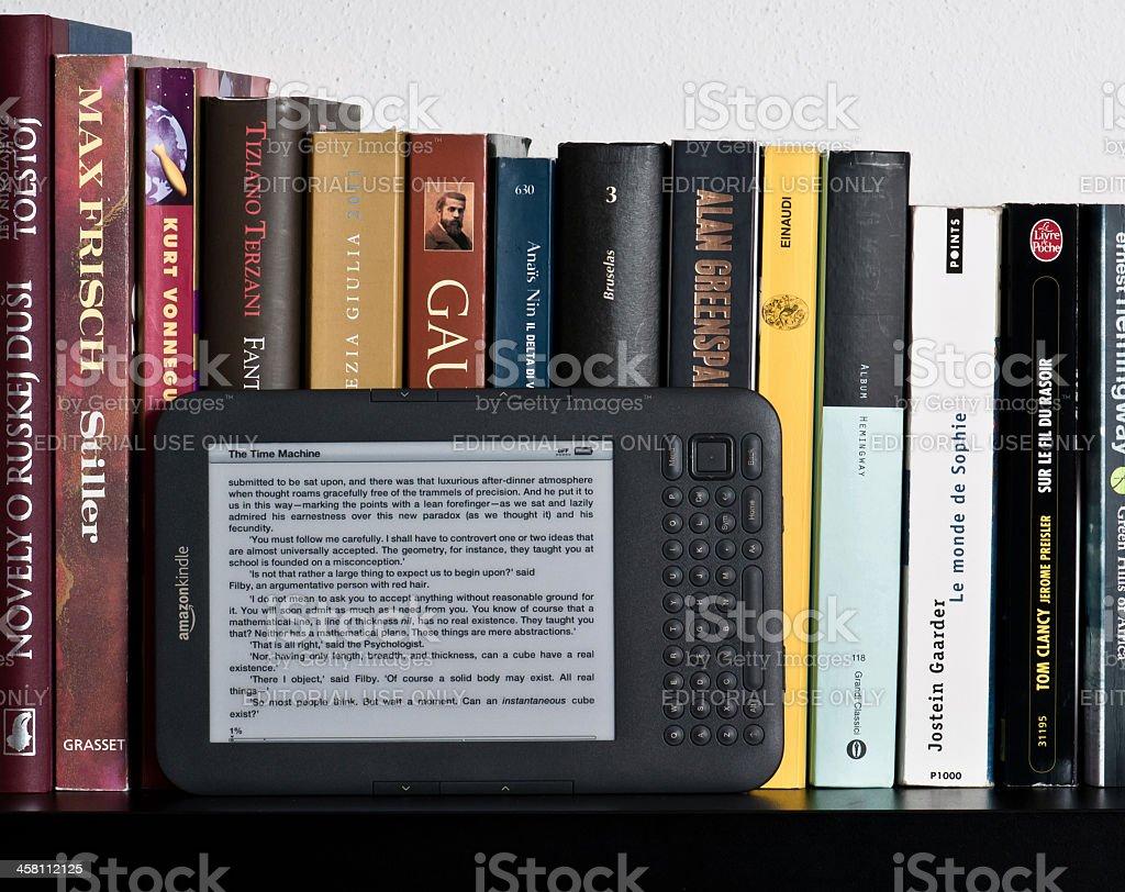 Amazon Kindle ebook device stock photo