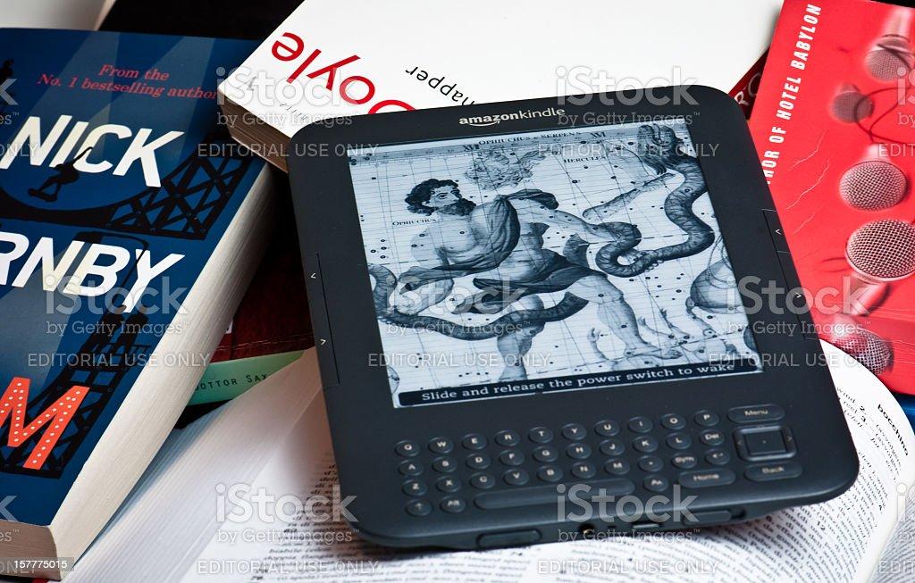 Amazon Kindle E-reader Device stock photo
