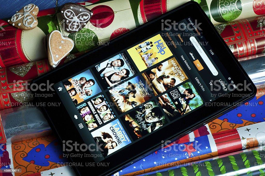 Amazon Kindle Fire tablet stock photo