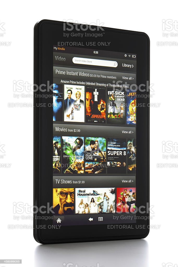 Amazon Kindle Fire with clipping paths royalty-free stock photo