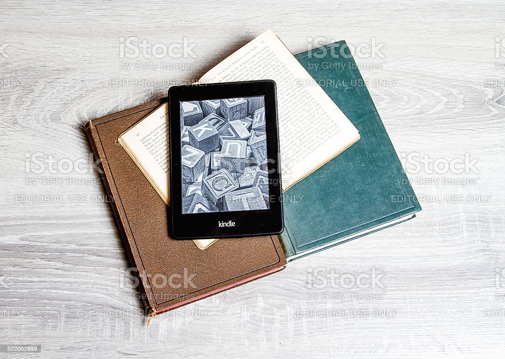 amazon kindle paperwhite stock photo