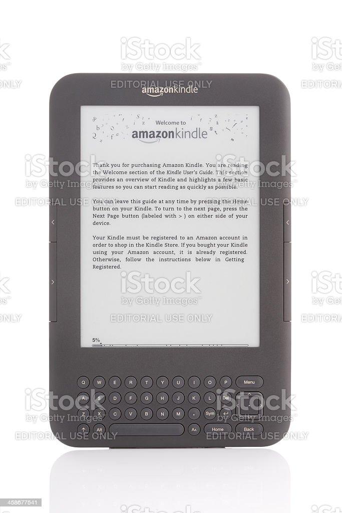 Amazon Kindle royalty-free stock photo