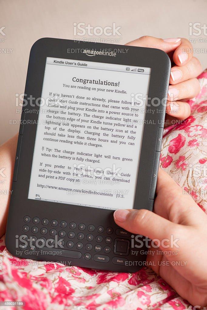 Amazon Kindle stock photo