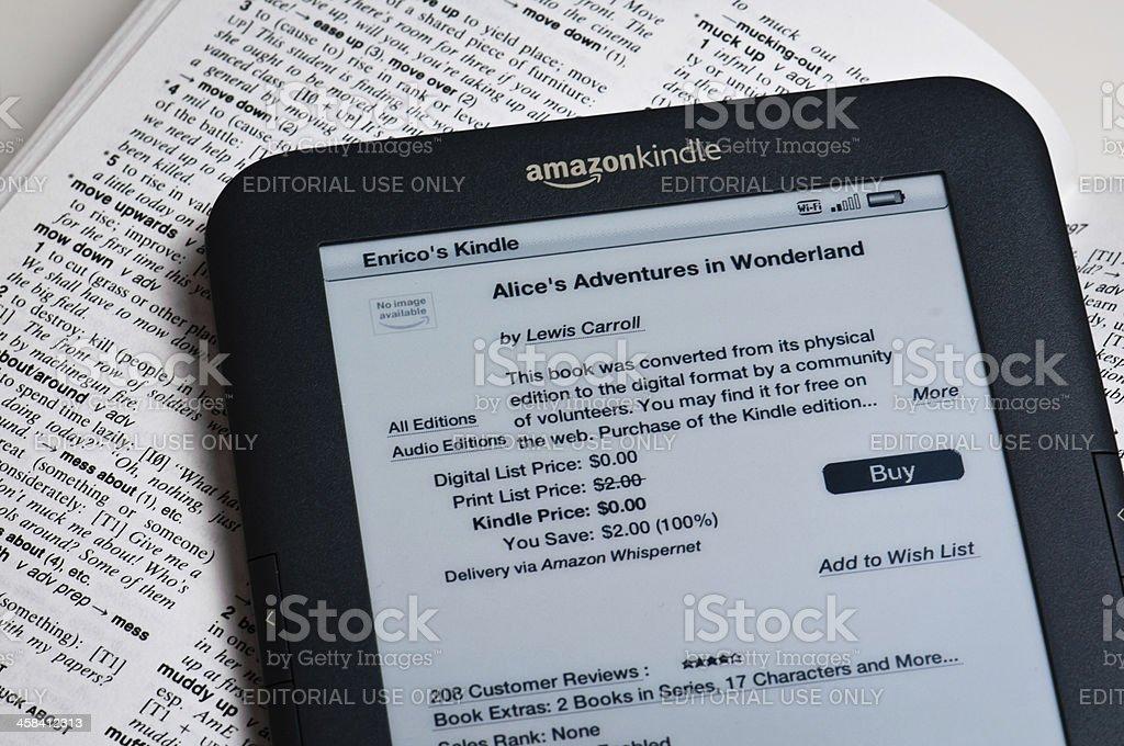 Amazon Kindle Reading Device stock photo