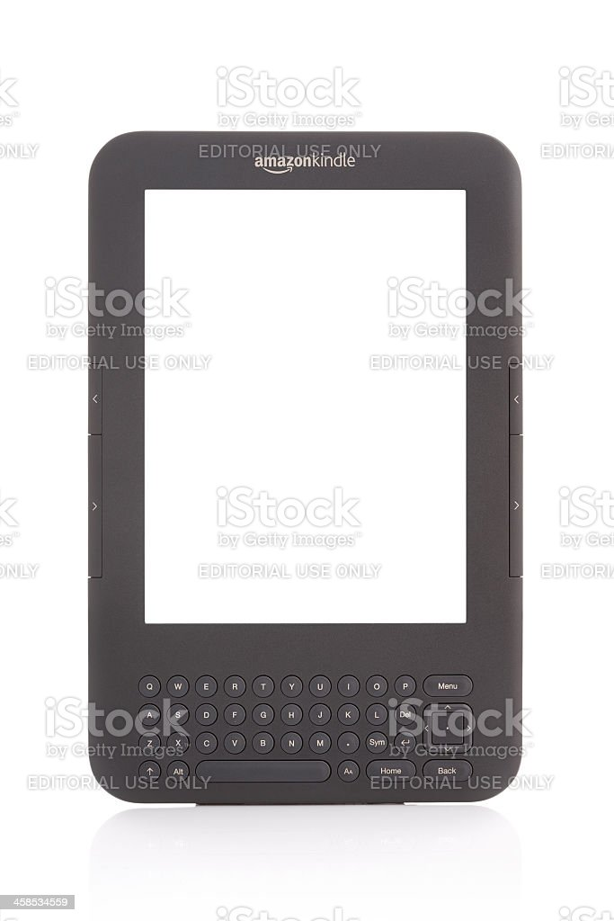 Amazon Kindle with clipping paths stock photo