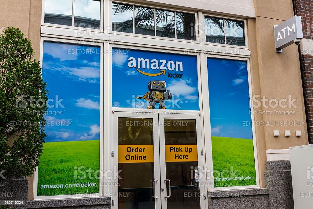 Amazon Locker Location VI stock photo
