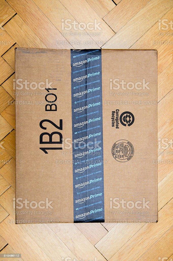 Amazon Prime Scotch on box stock photo