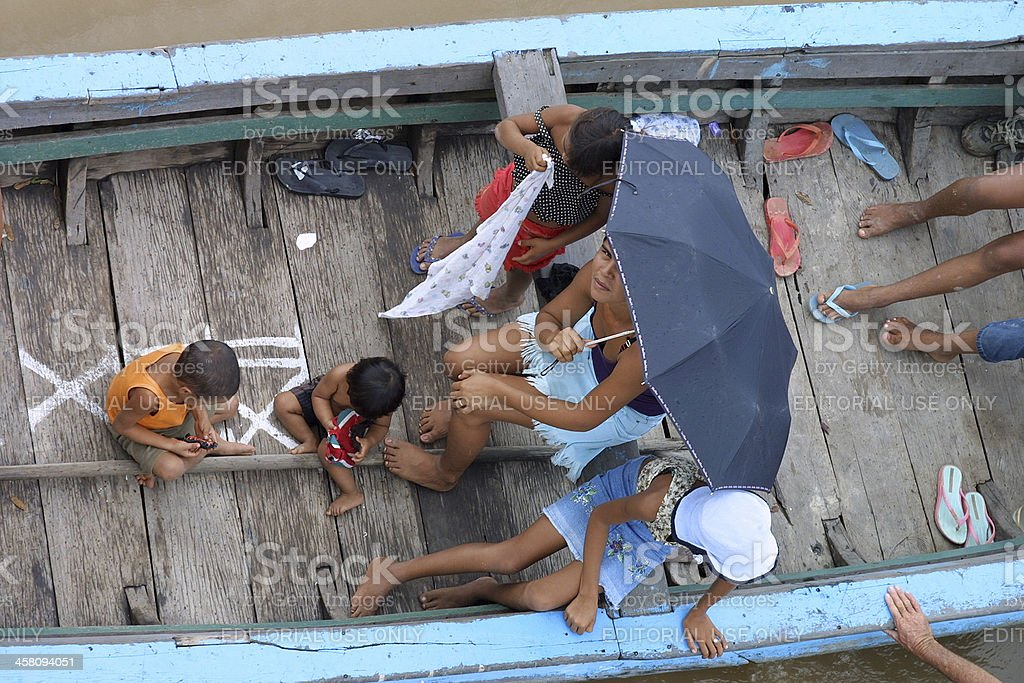 Amazon River Boat royalty-free stock photo