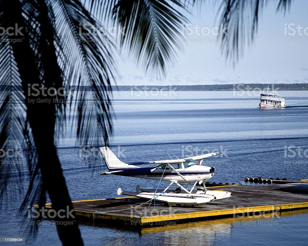 Amazon River Transportation royalty-free stock photo