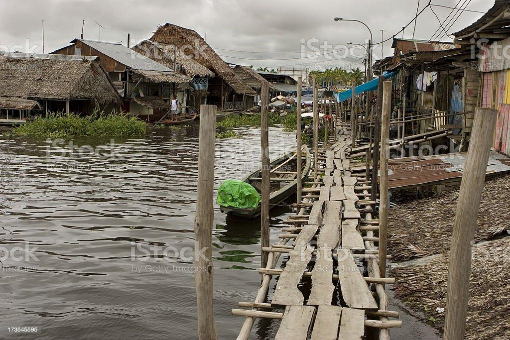 'Amazon River village, Iquitos' stock photo