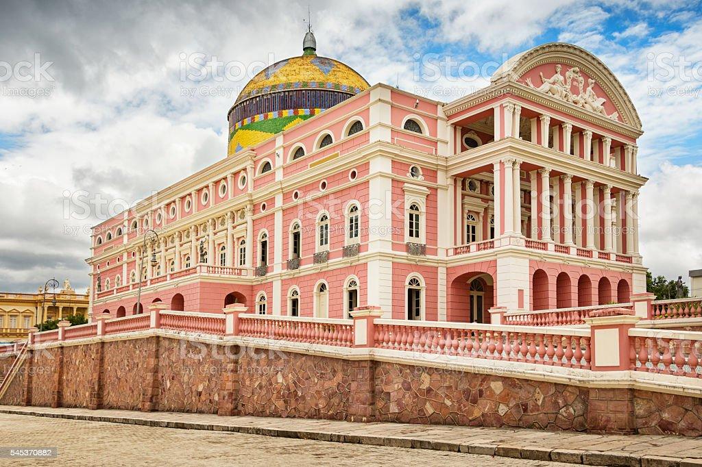 Amazon Theatre in Manaus Brazil stock photo