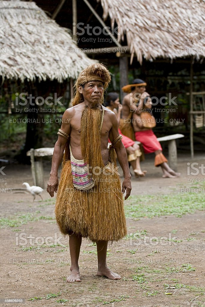 Amazon Tribe Chief. stock photo