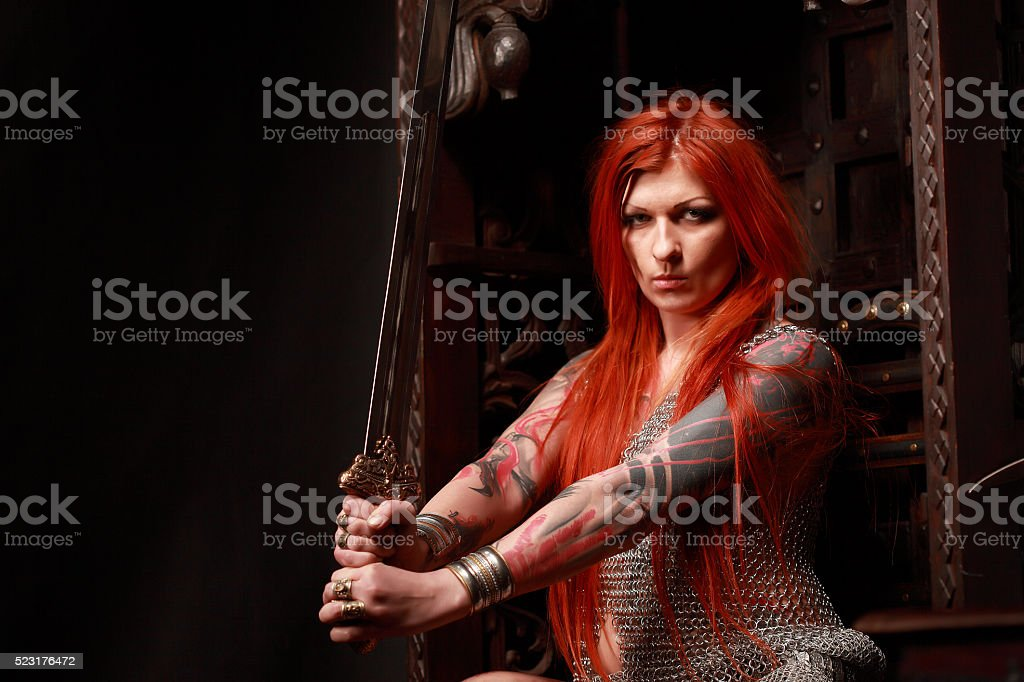 Amazon warrior stock photo