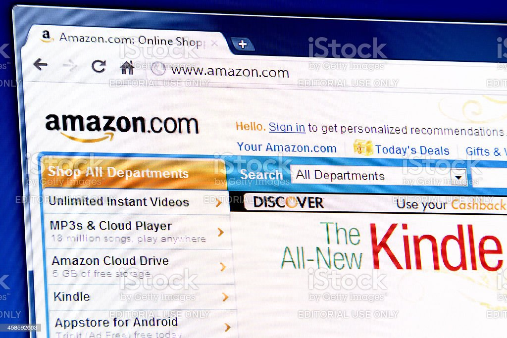 Amazon webpage on browser royalty-free stock photo