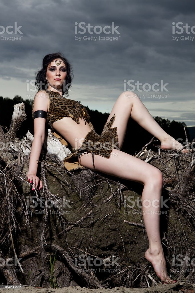 Amazon Woman royalty-free stock photo