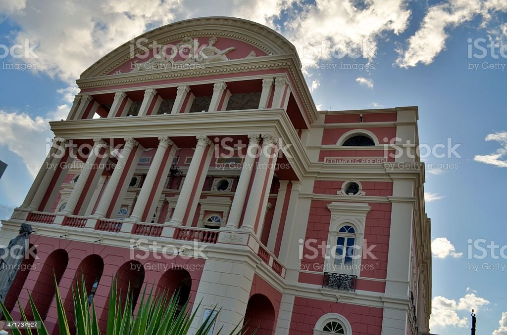 Amazonas Theater in einem schönen Tag Lizenzfreies stock-foto