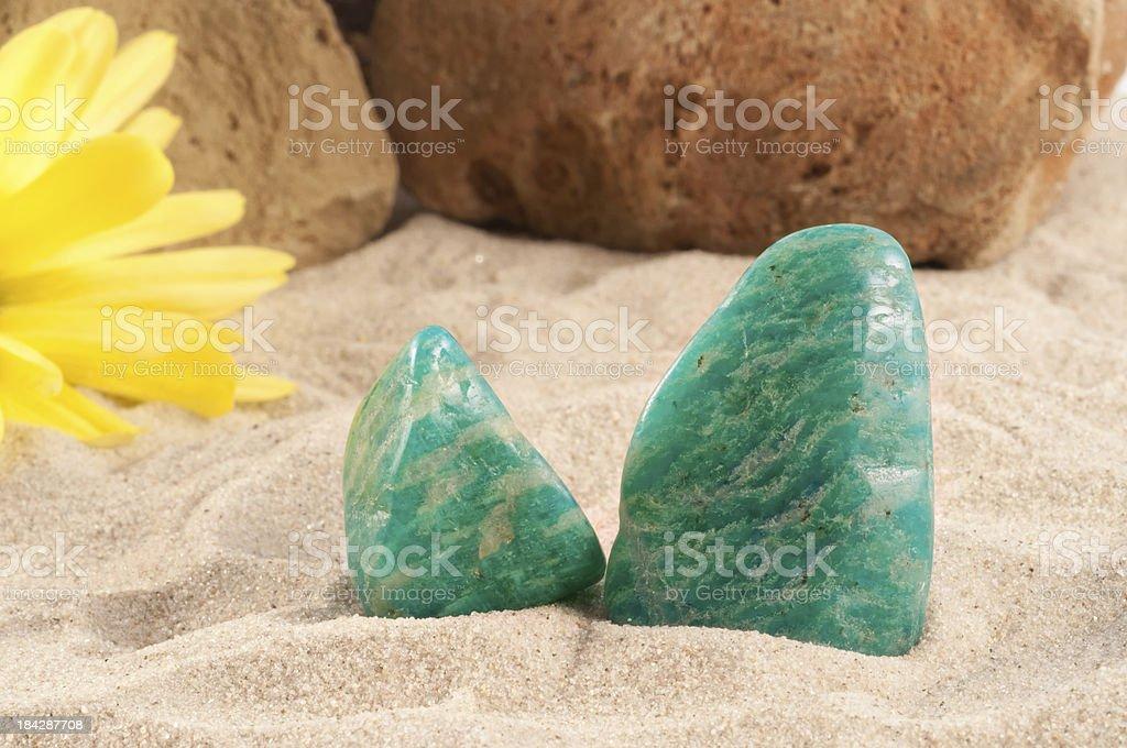 Amazonite - half precious stone. guaranteed authentic stock photo