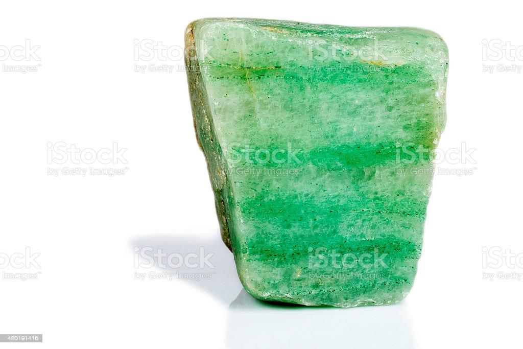 Amazonite quartz, gem rock cut and polished stock photo