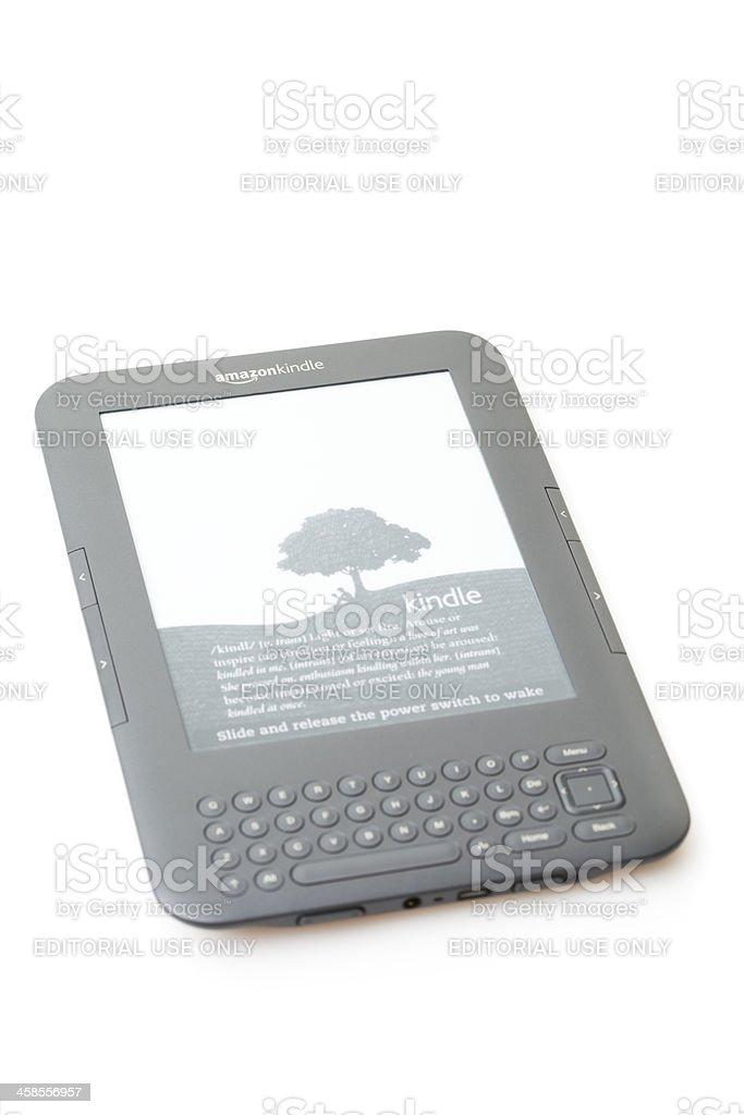 Amazon's Kindle Wireless Reading Device royalty-free stock photo