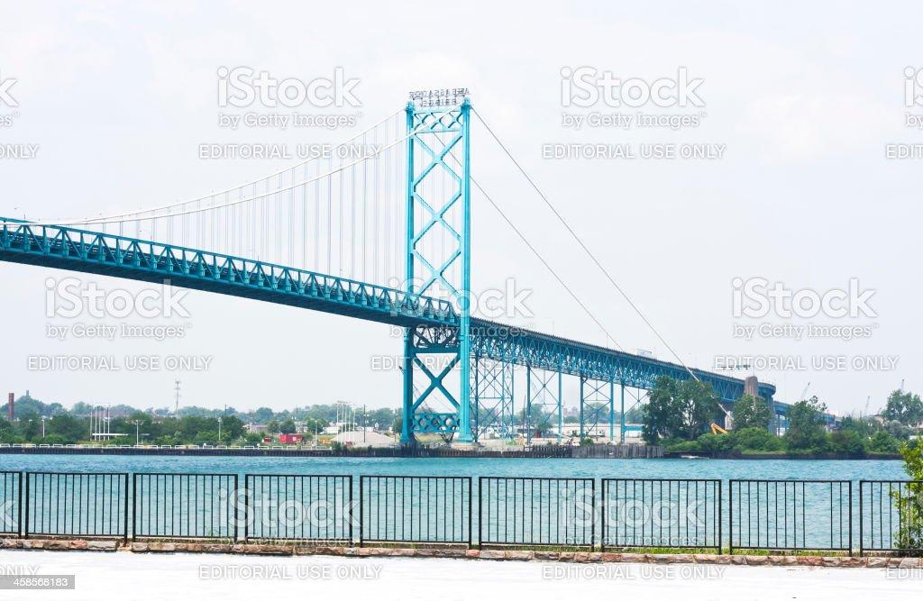 Ambassador Bridge Between Canada and The United States royalty-free stock photo
