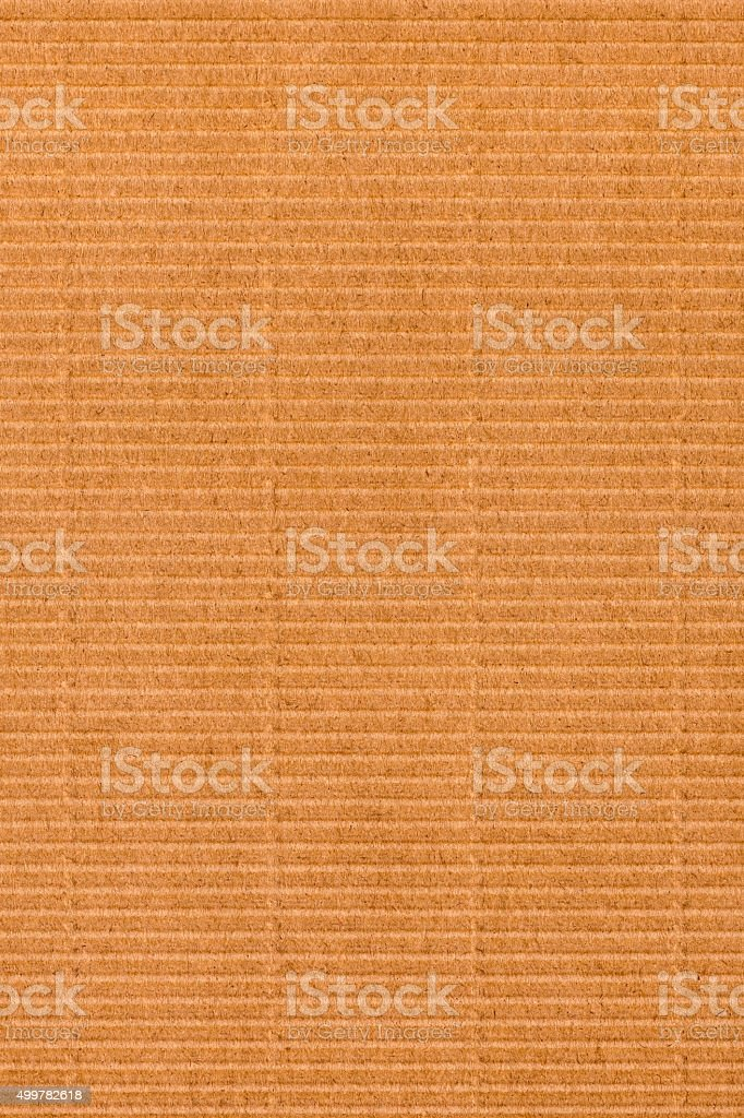Amber Brown Corrugated Cardboard Grunge Texture stock photo