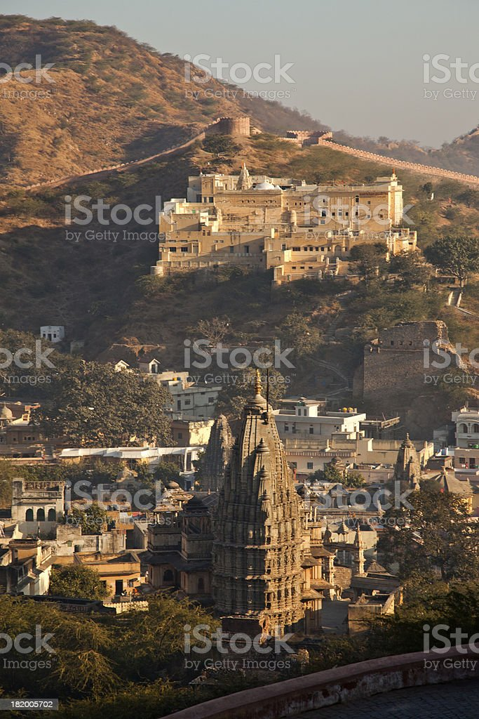 amber city view at jaipur india royalty-free stock photo