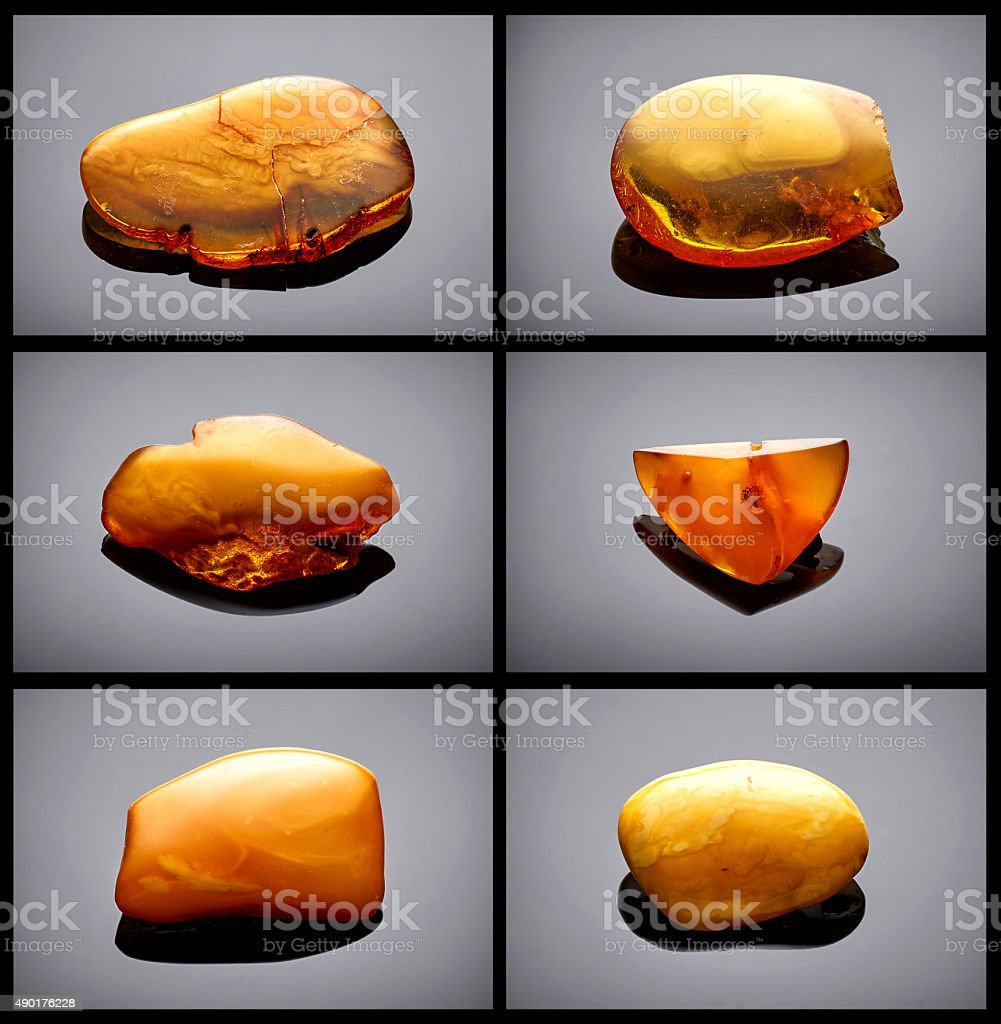 Amber collection stock photo