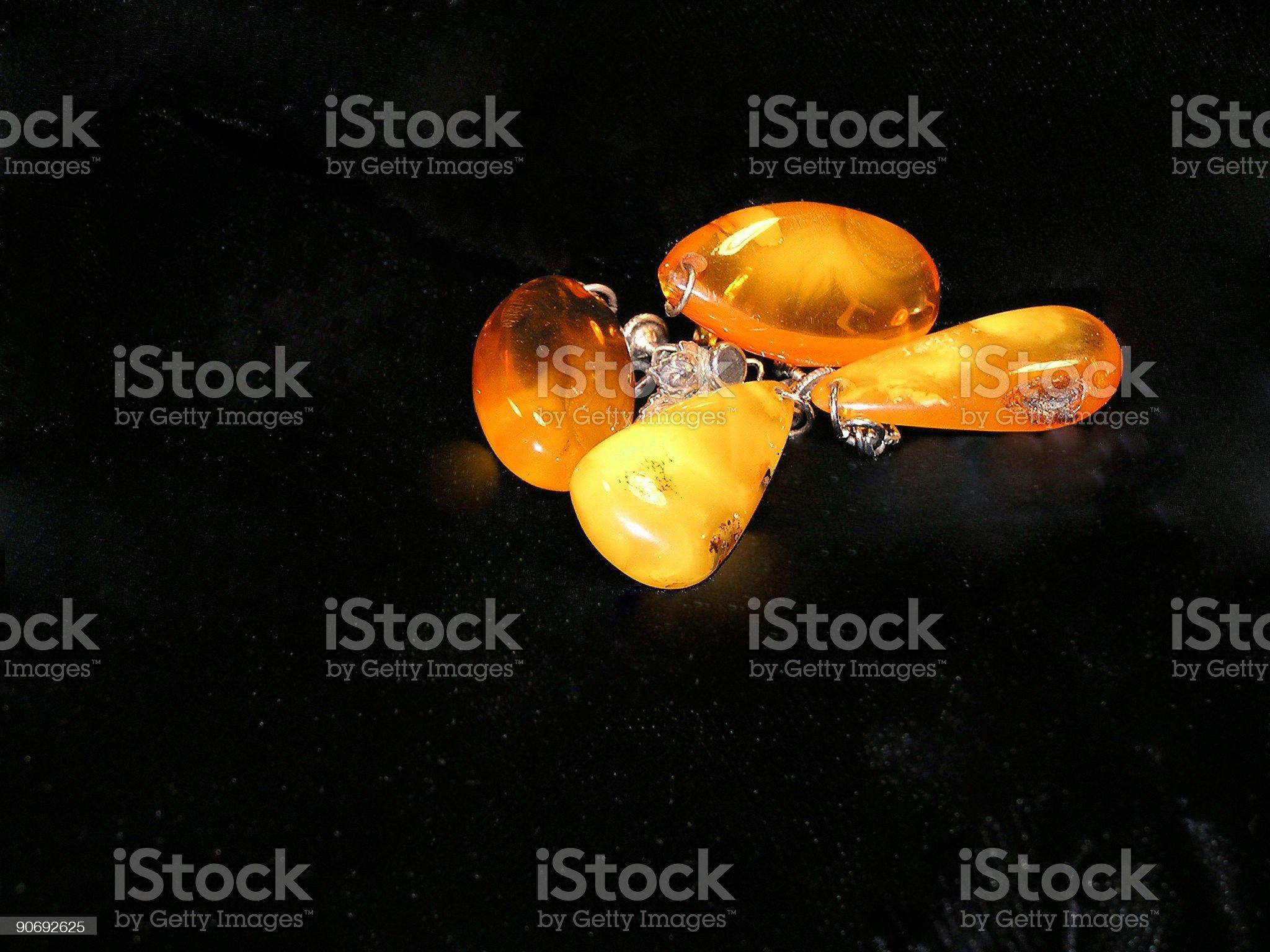 amber earings royalty-free stock photo