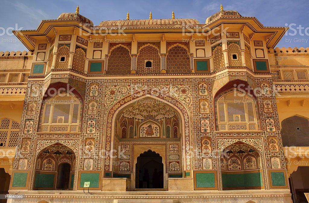 Amber Fort courtyard in jaipur rajasthan  india stock photo