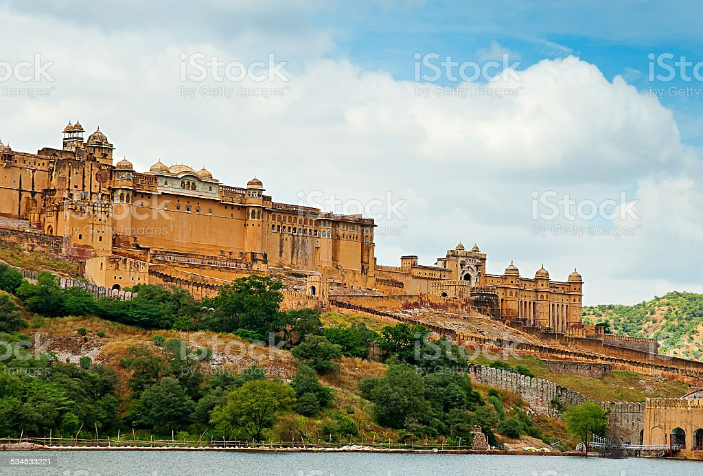 Fort d'Amber, Jaipur, Rajasthan, Inde. photo libre de droits