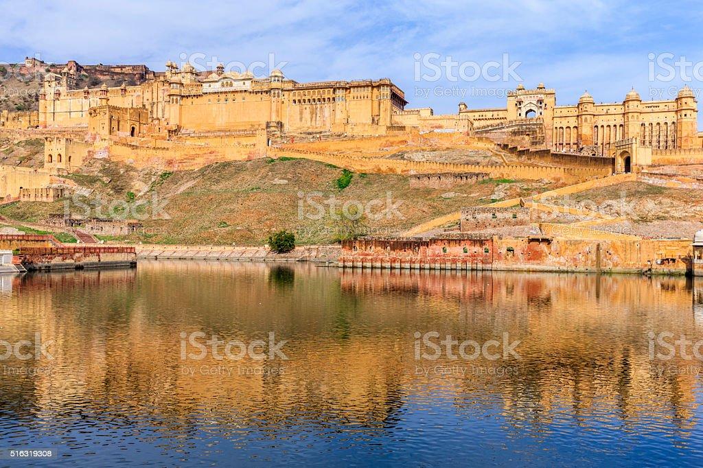 Amber Fort near Jaipur, Rahasthan, India stock photo